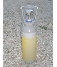 Bombola  CO2  5 lt  valvola residuale gasatura acqua spina birra e raccordo 11x1