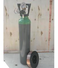 Bombola   miscela ar/co2    da  7 litri,  Europa   mig con riduttore e bobina 5 kg