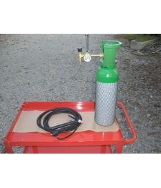 Kit bombola Argon  14  litri,  saldatura  , riduttore flussimetro,  torcia tig