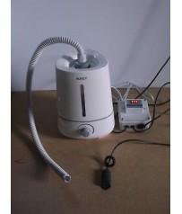 Kit controllo umidità automatico con igrostato elettronico  e umidificatore