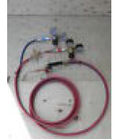 Kit saldatura autogena  riduttori  valvole  cannello  tubi  bombola ossigeno 7lt