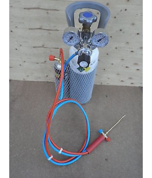 Sistema saldatura  autogena ossigeno  7 lt e gas