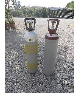 cannello Kit per Saldatura autogena  Ossigeno Acetilene 14 lt